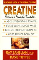 CREATINE: Nature's Muscle Builder